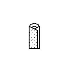 burrito food icon vector image