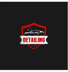 Car detailing logo - modern automotive garage logo vector