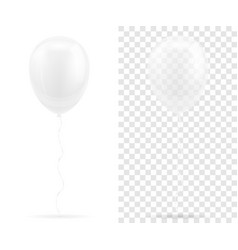 celebratory transparent white balloons pumped vector image