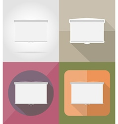 Cinema flat icons 10 vector