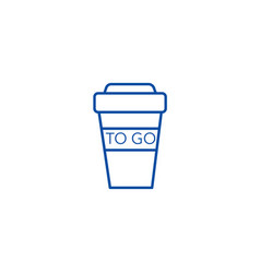 Coffee to go cup line icon concept coffee to go vector