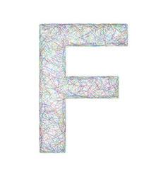 Colorful sketch font design - letter f vector