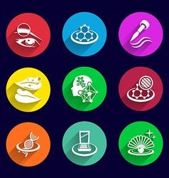 Cosmetics Icons set lipstick brush female mascara vector