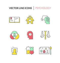 Counseling Icons vector image