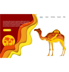 desert trip website landing page template vector image