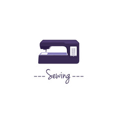 digital sewing machine logo vector image