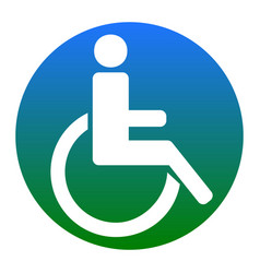 Disabled sign white icon in vector
