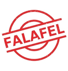 Falafel rubber stamp vector image