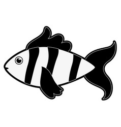 fish sideview icon image vector image