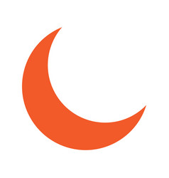 Flat color crescent moon icon vector