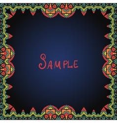 Frame border in red and green color vector image