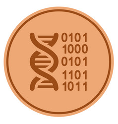 Genome bronze coin vector