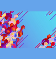 Gradient colorful abstract geometric shapes and vector