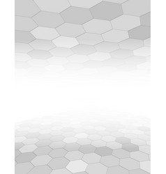 grey abstract background with hexagon pattern vector image vector image