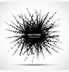 halftone star frame grunge spot circle vector image