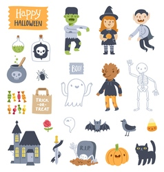 Halloween super set vector