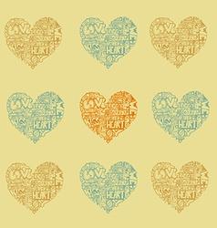 HeartWords3 vector image