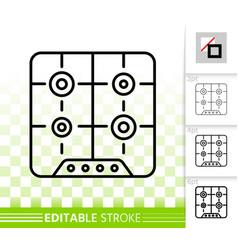 hob simple black line icon vector image
