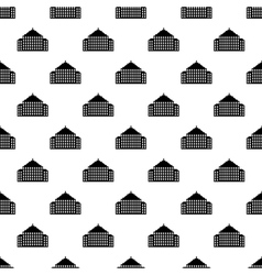 House pattern seamless vector image