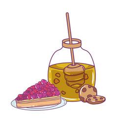 Isolated honey jar design vector