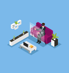 Isometric business technology concept vector