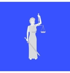 Law conceptual with woman vector image