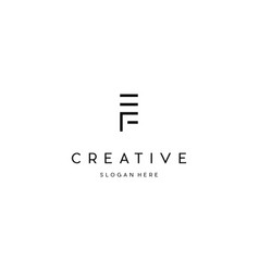 Letter ef creative business logo design vector