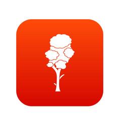 Linden icon digital red vector