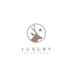 luxury deer logo design inspiration vector image