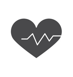medical healthy heartbeat life silhouette icon vector image
