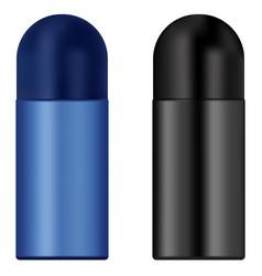 Metallic deodorant 3d realistic set antiperspiran vector