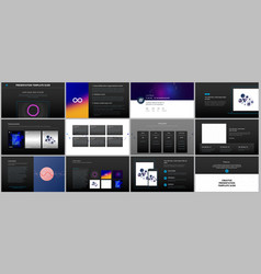 minimal presentations portfolio templates with vector image