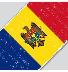 Moldovan grunge flag vector