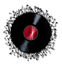 Musical notes record vector