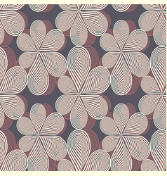 Of linocut flowers vector