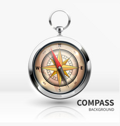 old realistic navigation compass isolated vector image
