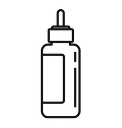 Osteopathy dropper icon outline style vector