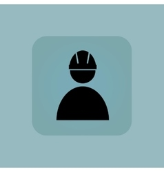 Pale blue builder icon vector