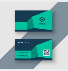 Professional medical theme colors business card vector