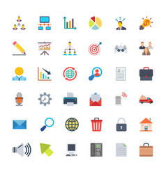 Project management colored icons vector