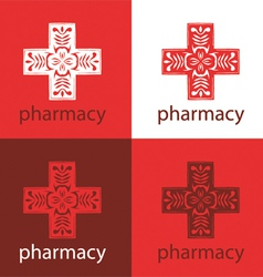 Red medicine logo vector