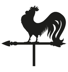 Rooster weather vane silhouette vector