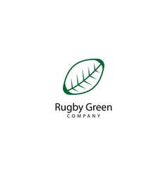Rugby green logo design icon vector