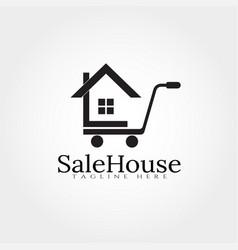 Sale house logo design template home icon vector