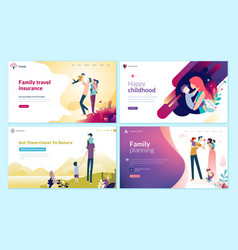 set of web page design templates for health care vector image