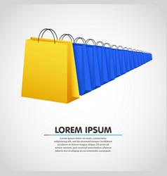 Shopping bag row sale concept vector