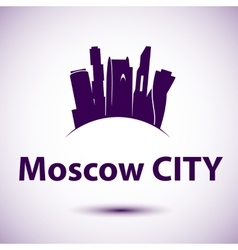 silhouette of Moscow vector image