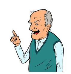 smiling elderly man vector image