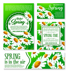 spring flowers banner and greeting card template vector image