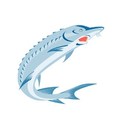 Sturgeon Fish Retro vector